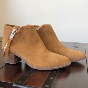 STEVEN Brown Booties with Side Zippers
